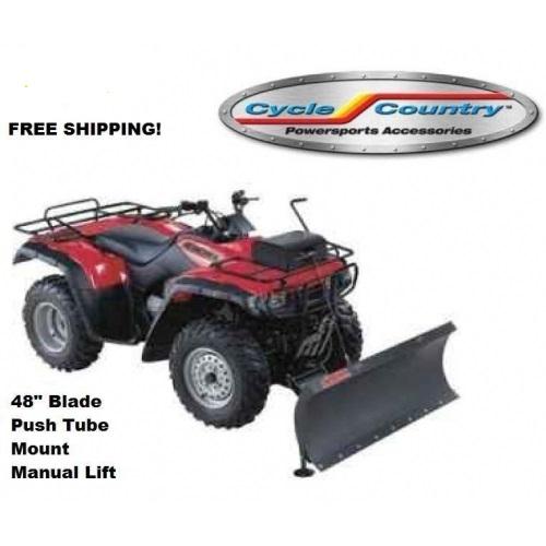 atv snow plow manual lift
